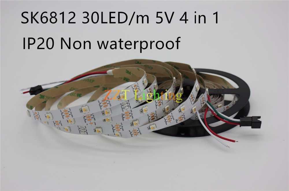 1 m/5 m SK6812 (benzer ws2812b) RGBW RGBNW WW 4 in 1 30/60/144 leds/piksel/m; bireysel adreslenebilir led şerit IP20/IP65/IP67 DC5V