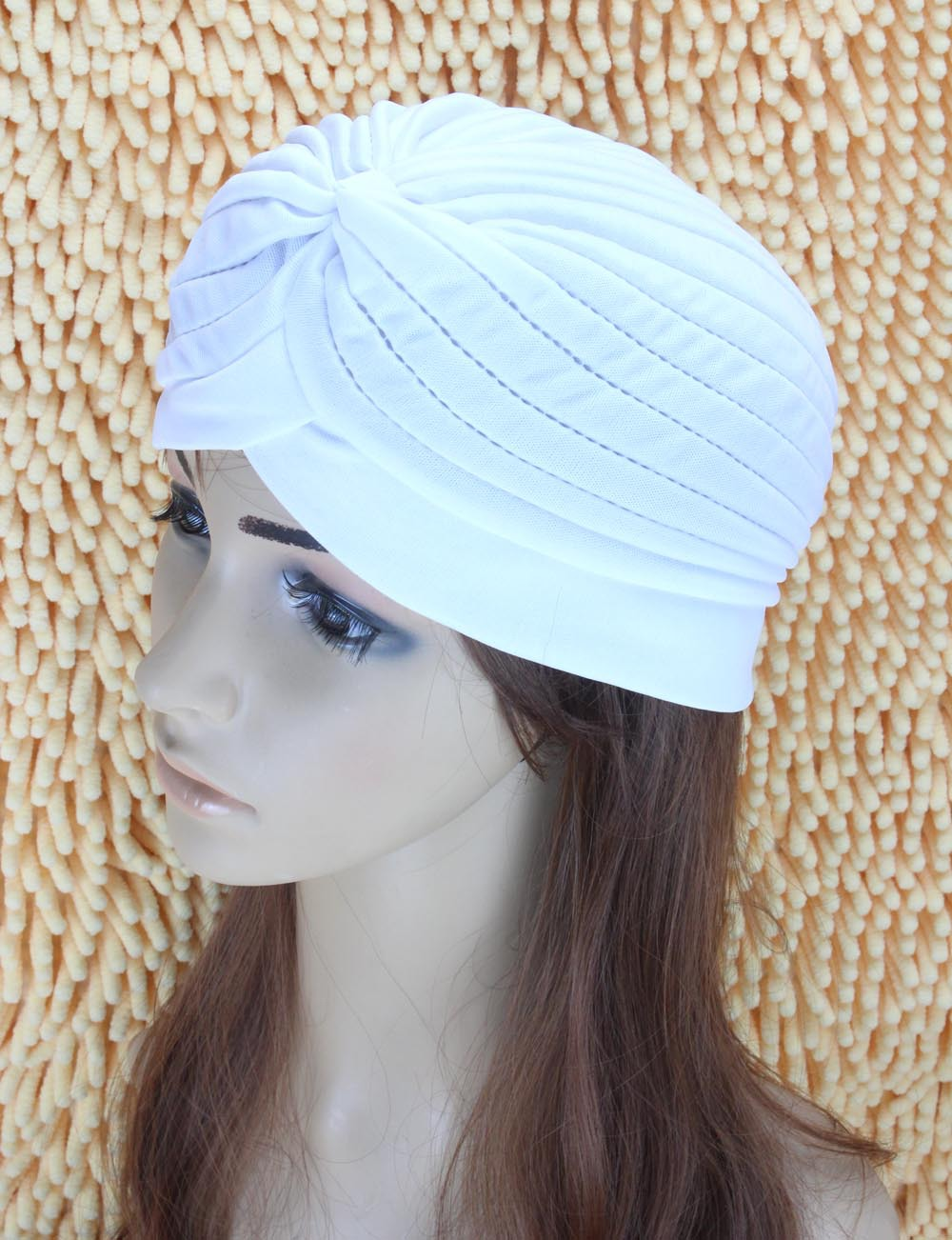 Mode Indian Unisex Head Wrap Cap vrouwen tulband Bandana indian caps - Kledingaccessoires - Foto 6