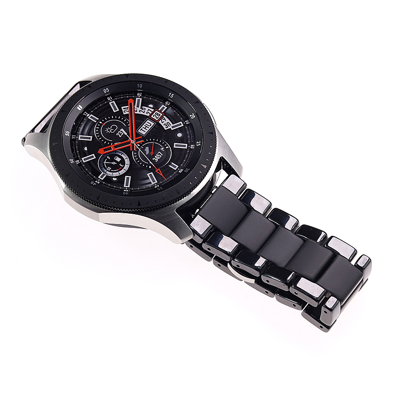 Ceramic watchbands For samsung gear s2 S3 band  20 22mm watch band  gear s3  watch strap huawei watch gt  galaxy watch 46mm42mm-in Watchbands from Watches