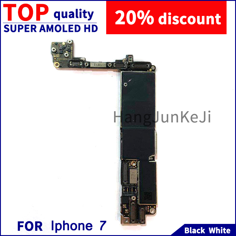for iphone7 Motherboard Without Fingerprint Board 32G 128G 256G Unlocked Motherboard in Mobile Phone Antenna from Cellphones Telecommunications