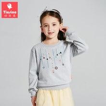 Tinsino Girls Long Sleeve Autumn T-shirts Children Fashion Sweatshirts Tees Tops Girl Spring Outerwear Clothes Kids Clothing