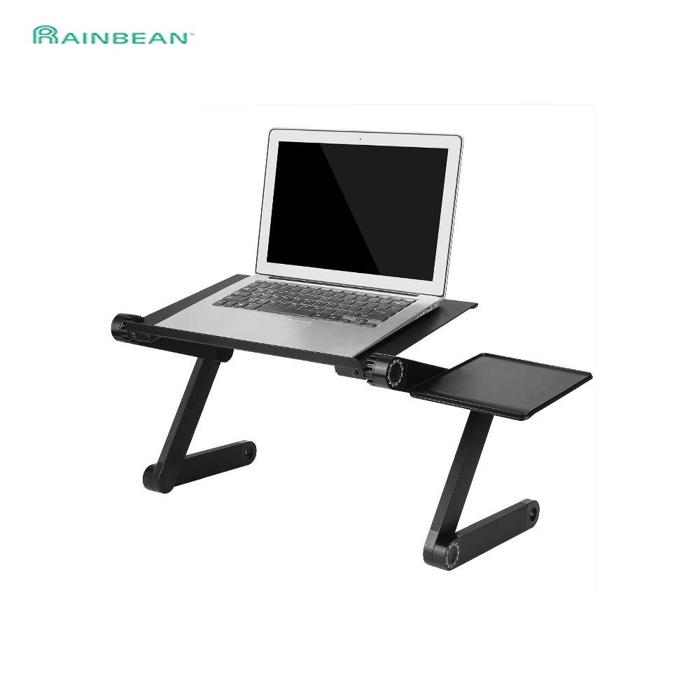 Notebook-Stand-Tray Sofa-Bed Mouse-Pad Desk-Table Ergonomic Cooling-Fan Laptop Black
