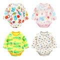 Infantil romper do bebê recém-nascido roupas neonatal pijamas de manga comprida primavera e no Outono