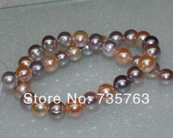 xiuli 000227 Outstanding luster Natural mix color AA+ 12-13mm near round pearl