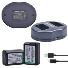 2x NP-FW50 FW50 NP Li-ion Substituição Da Bateria & Carregador Dual USB para sony nex-5 nex-7 slt-a55 a33 a55 a37 a3000 a5000 a51000 A6000