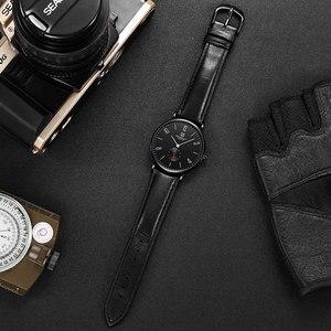 Image 5 - Herenhorloge Hemsut ultradunne Mannen Horloge Bruin Lederen Quartz Horloge 3ATM Waterbestendig Zwart relogio masculino 2018