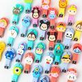 Comercio al por mayor 50 unids/lote Tsum Aberdeen de Mickey Minnie Donald Duck Cartoon lindo bebé niños tijeras de uñas tijeras de uñas de acero inoxidable