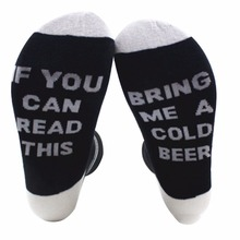 "Super cool ""If you can read this – Bring me a Beer"" unisex socks pair"