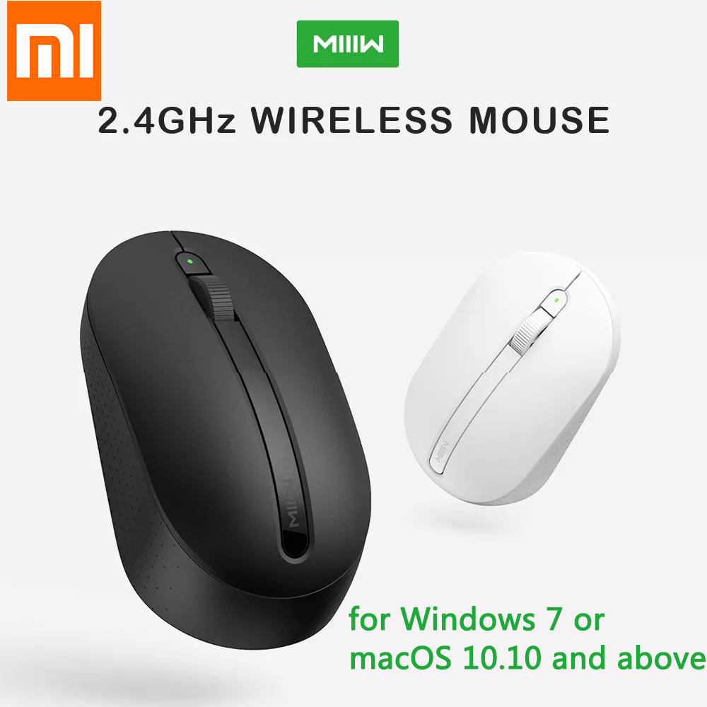 Original Xiaomi MIIIW Wireless Mouse 2.4GHz 1000DPI Wireless Office Mouse for Laptop