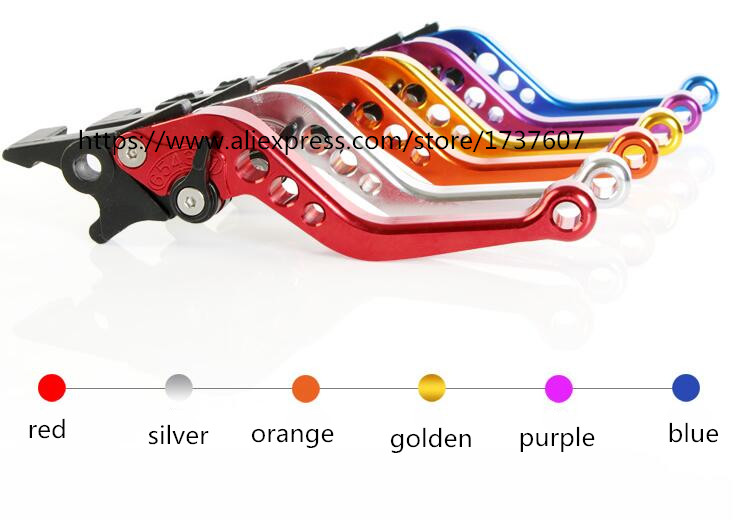 1pair multicolor Motorcycle Double Disc Brake Lever Scooter Electric Bike Modification Lever for GY6
