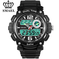 SMAEL 2017 New Men Military Sports Watches Digital LED Quartz Wristwatches Rubber Strap Relogio Masculino Electronic Gifts Watch