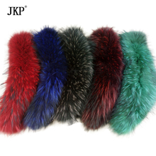 Real Raccoon fur collar /scarf/natural Genuine Big Raccoon Fur Collar scarf warp shawl