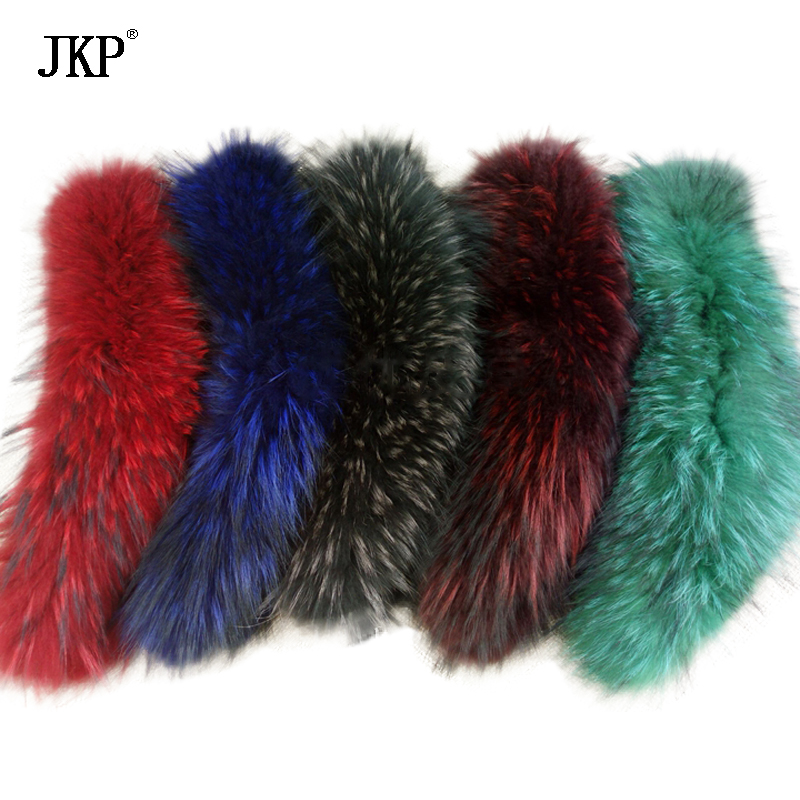 Vera pelliccia di Procione collare/sciarpa/naturale Genuino Grande Pelliccia di Procione Collare dello scialle ordito sciarpa