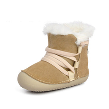 Soft Soled Genuine Leather Baby Shoes First Walker Anti Slip Baby Boy Shoes Fashion Cute Baby Shoes Girls Winter Warm 60A1056