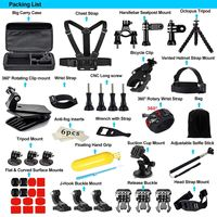 Camera Accessories for GoPro Hero 2018 Session/6 5 Hero 4 3+ SJ4000/5000/6000/AKASO/APEMAN/DBPOWER/And S ony Sports DV and More