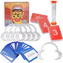 200 pcs Speak Out Board Game  Interaction Card Game Big Mouth Toys Party Table Game Family Gathering Toy For Adult Party shark bite game funny toys desktop fishing toys kids family interactive toys board game