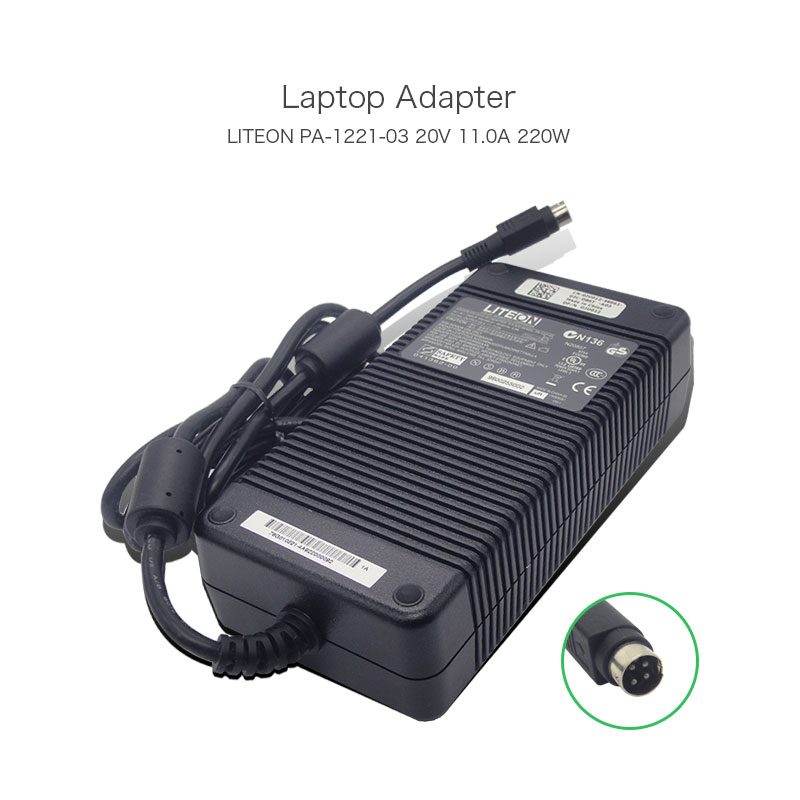 100% Original Liteon 20V 11A 220W PA-1121-03 Laptop Power Supply for Clevo D9T D900T Netbook with 4 Pins AC Adapter future 2017 new mountain bike crankset bcd 104mm length 170 175mm carbon mtb bicycle crank alloy axis cycling parts