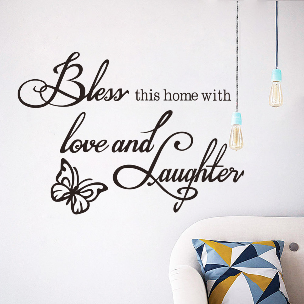 Online This Home Runs On Love Laughter Strong Coffee Wall Decals Vinyl Stickers Decor Living Room Decoration Aliexpress Mobile