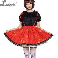 Red Sweet Short Skirt Lovely Japanese Plum Flower Printed Lolita Skirt Free Shipping