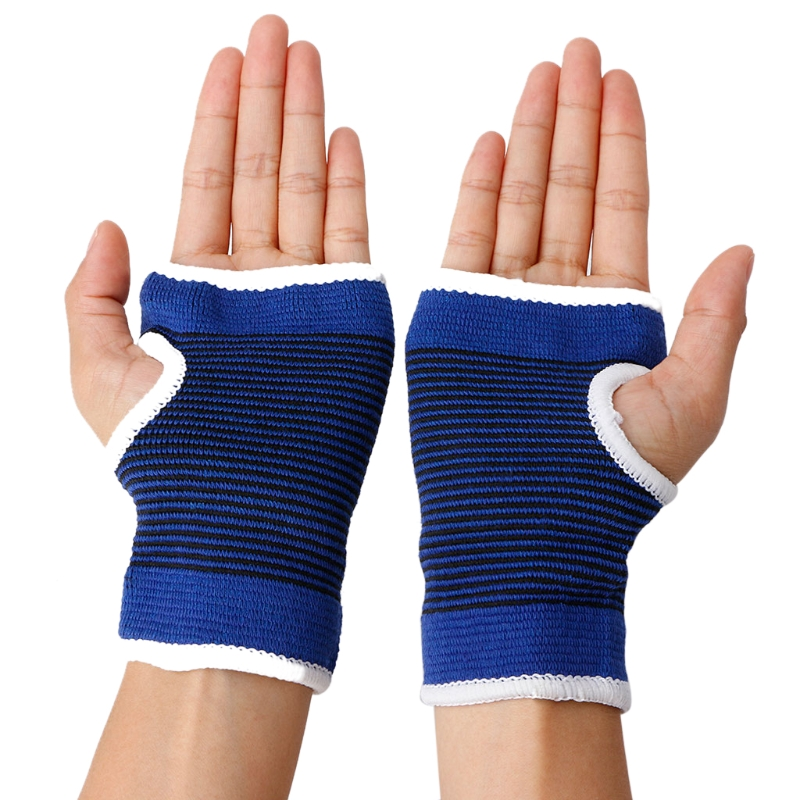 2pcs Palm Wrist Hand Support Glove Elastic Brace Sleeve Sports Bandage Gym Wrap useful