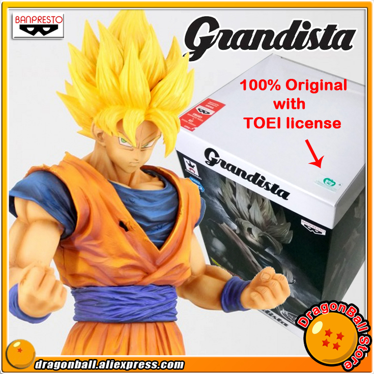 Japan Anime Dragon Ball Z Original Banpresto Grandista Resolution of Soldiers ROS Collection Figure - Super Saiyan Son Goku sale original banpresto ros resolution of soldiers grandista collection figure super saiyan son goku gokou dragon ball z 28cm