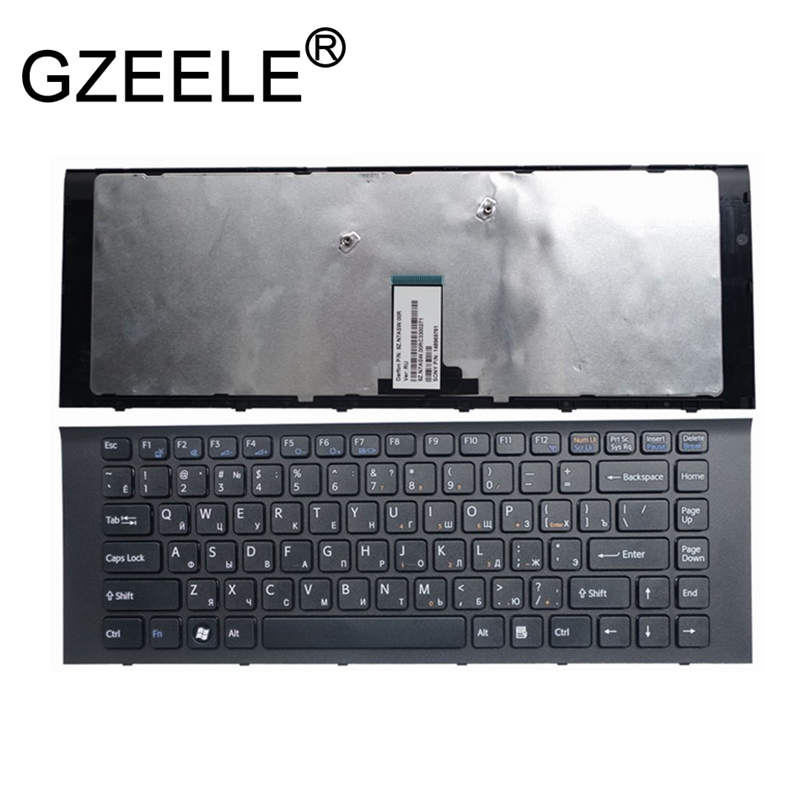 GZEELE NEW FOR SONY VAIO VPCEG VPC EG VPC EG EG16 EG18 VPC EG15FX VPCEG15FX VPCEG15FX/B EG16EC EG23YC RU russian keyboard black-in Replacement Keyboards from Computer & Office