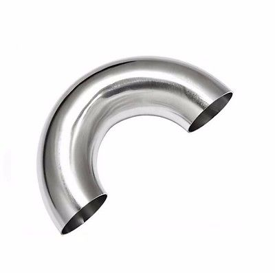 89mm 3.5 O/D 304 Stainless Steel Sanitary Weld 180 Degree Elbow Pipe Fitting 3 4 19mm od sanitary weld elbow pipe fitting 90 degree pipe fittings stainless steel ss316