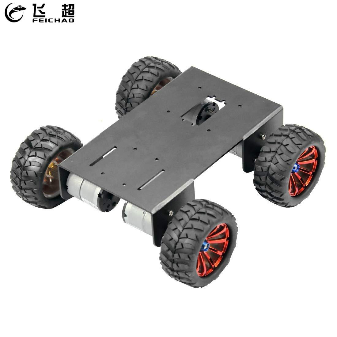 4WD RC สมาร์ทแชสซีรถยนต์ 72 มม.เส้นผ่าศูนย์กลางล้อ ABS DIY 4 ล้อหุ่นยนต์สำหรับ DIY Maker Eduational การสอนชุด-ใน ชิ้นส่วนและอุปกรณ์เสริม จาก ของเล่นและงานอดิเรก บน AliExpress - 11.11_สิบเอ็ด สิบเอ็ดวันคนโสด 1