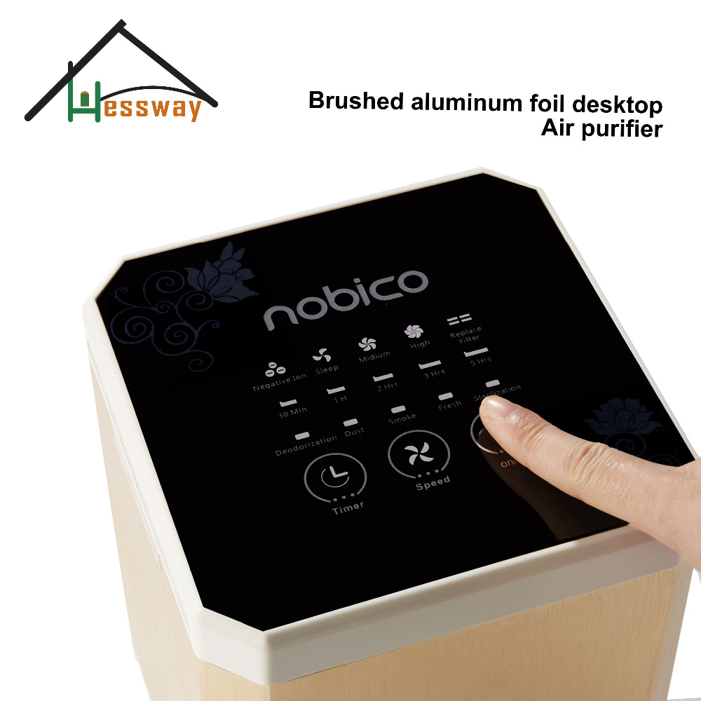 3 in 1 air purifier ionizer air filter hepa room air cleaner with Aluminum alloy material