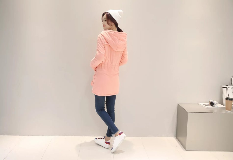 Donna 2016 Green Modello Agnello Colour pink Giù Vestiti Corda Sottile Coreano Blue Cotone La Fondo Tirando khaki Ricoprono Anche Di Lungo navy Nuovo Inverno Black army coltivazione Auto wAqwHr
