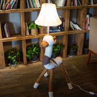 Kids' Lamp for living room Decoration lighting Fabric Carton Animal Alpaca Sheep Children Floor Light