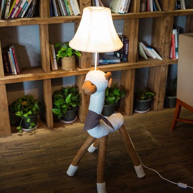 Kinder Lampe Für Wohnzimmer Dekoration Beleuchtung Stoff Karton Tier Alpaka  Schafe Kinder Boden Licht