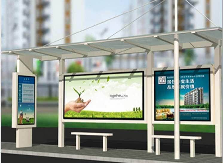 Solar Led Backlight Advertising Display Player Signage For Cctv Monitoring Toughened Glass Shell  Outdoor LED Screen Display