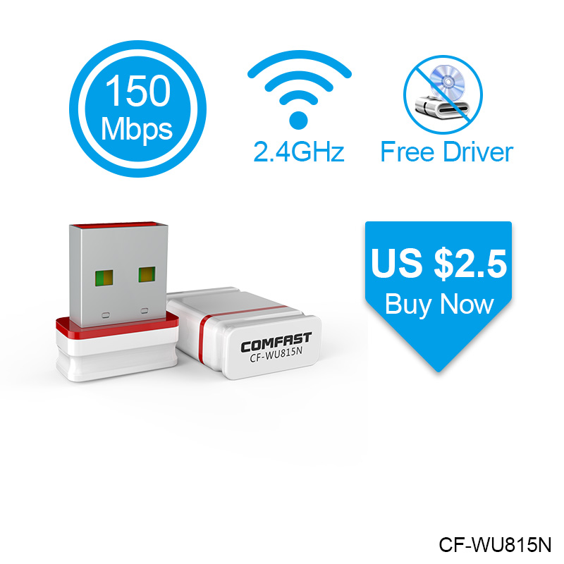 802.11b/g/n USB WiFi Adapter 150Mbps Mini Wi-Fi Adapter PC Network Card Wi Fi Dongle Plug & Play 2.4G USB Ethernet WiFi Receiver