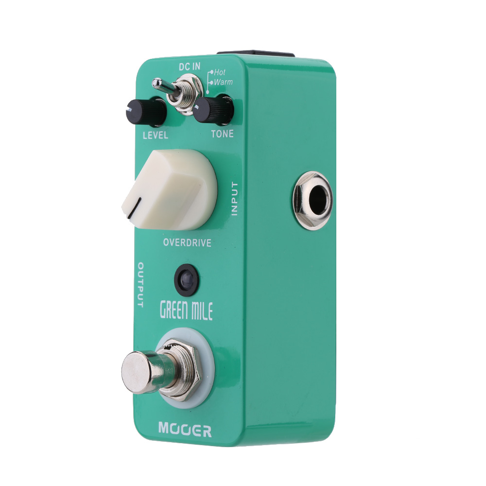 Mooer Green Mile Micro Electric Guitar Pedal Mini Overdrive Guitar Effect Pedal True Bypass Guitar Parts