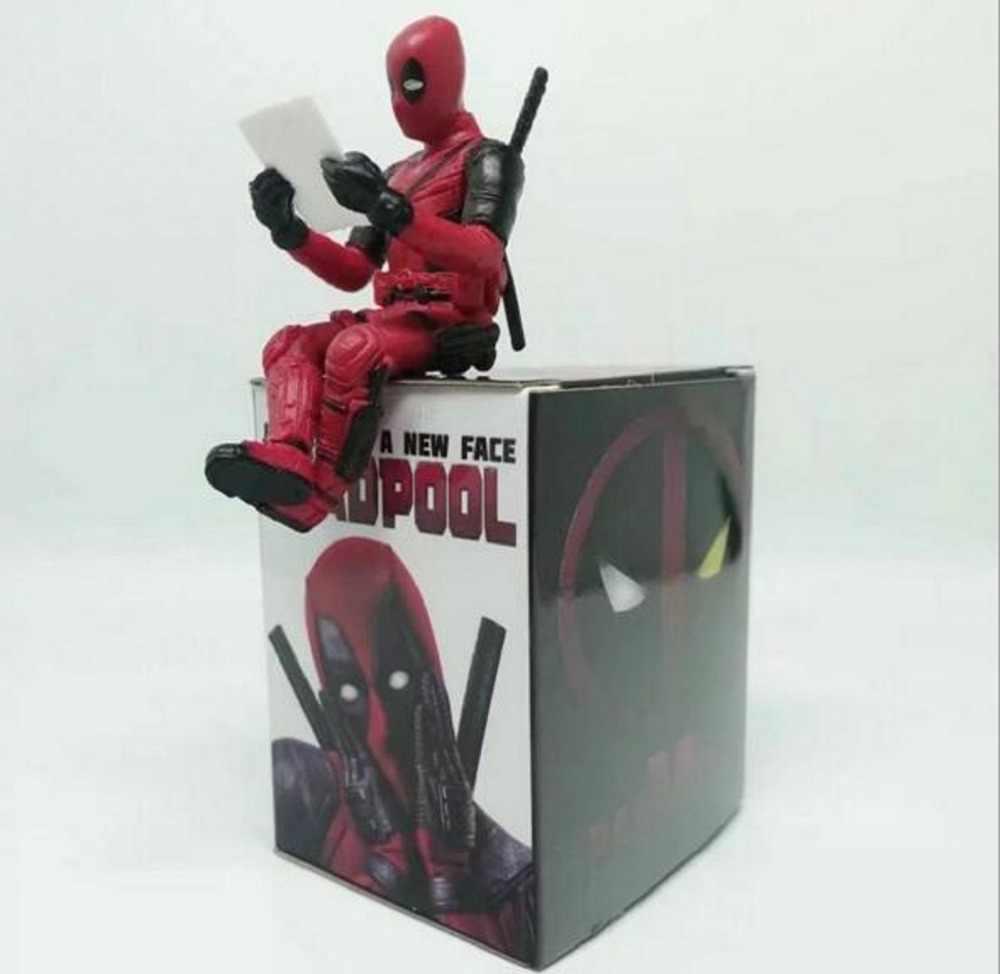 Quente marvel x-men deadpool 2 figura de ação sentado postura modelo anime mini boneca decoração pvc coleção estatueta brinquedos modelo