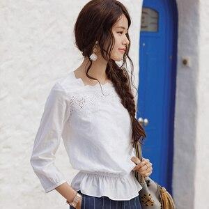 Image 3 - INMANฤดูใบไม้ผลิดอกไม้ออกแบบเสื้อผู้หญิงเสื้อผู้หญิงเสื้อผู้หญิง