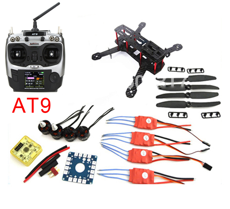 Mini QAV250 Carbon Fiber Frame DIY Quadcopter Kit with AT9 Transmitter 1806 Motor 12A ESC CC3D Flight Controller 5030 Propeller 250 quadcopter full carbon fiber frame kit rtf quadcopter with remote controller