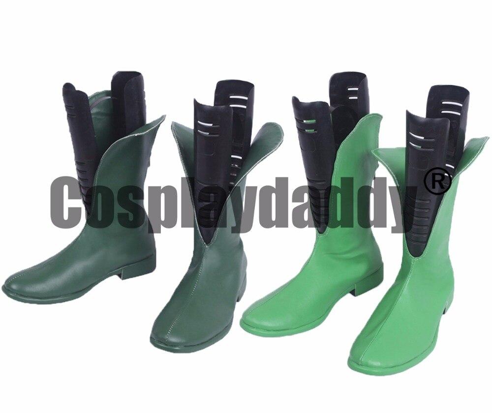 Détective Comics Richard Dick Grayson première année comme Robin vert Cosplay chaussures S008