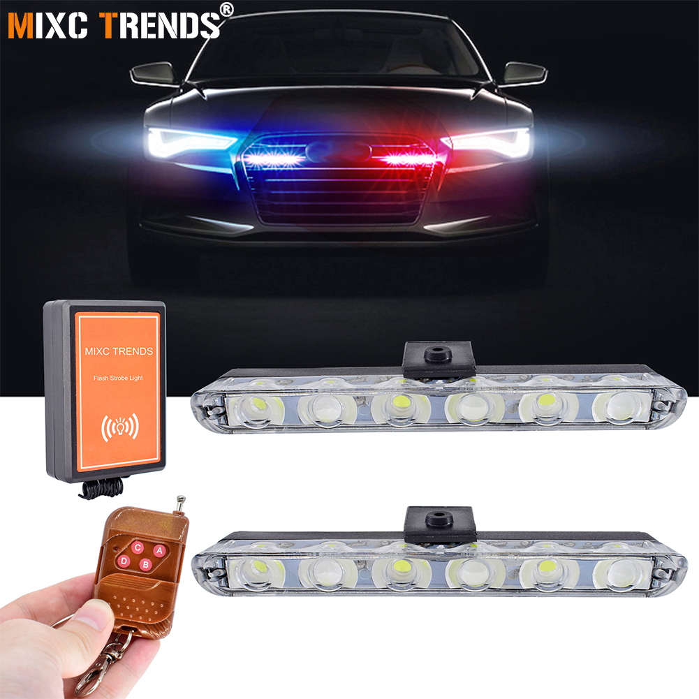 Automobile & Motorräder Dynamisch 12 V Auto Grill Deck Warnung Licht Bar Led Notfall Blinklicht Auto Styling Mini Strobe Signal Lampe Universal Design