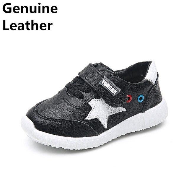 HOT SALE genuine leather boy Children shoes,black&white Kids/child's  Shoes