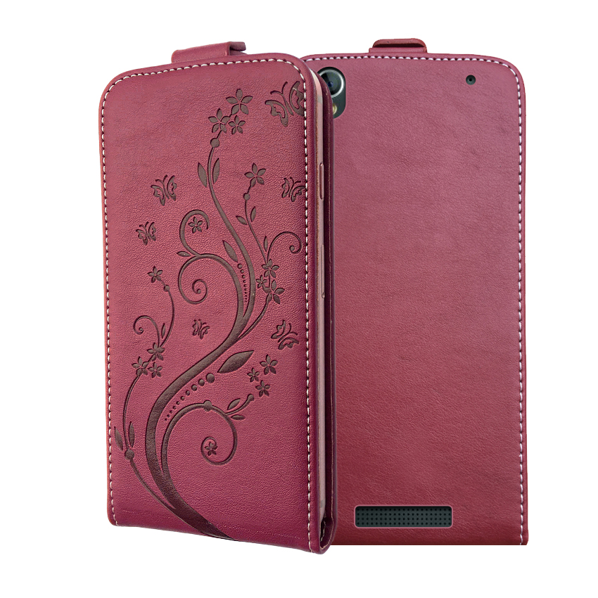 3D Stereo Embossing lace flower butterfly flip up and down leather phone bag cover case for <font><b>Philips</b></font> Xenium <font><b>V787</b></font>+ image