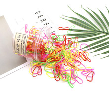 2019 Time-limited Mix Color Approx 500pcs/lot Elastic Hair Bands Child Baby Girls Holder Rubber Tie Gum Accessories Two Size
