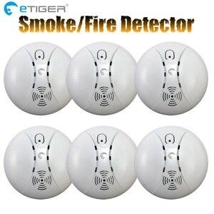 Image 5 - ETiger Detector de humo inalámbrico, ES D5A de sensor de alarma de incendio para el sistema de alarma Tigre S4/S3B