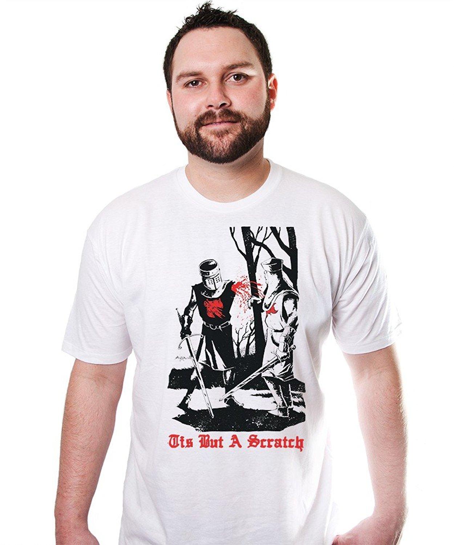 GILDAN Men T Shirt 2017 Fashion Tis But A Scratch Tshirt Funny Humor Monty Python Tee An ...