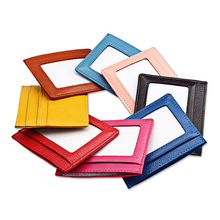 PHENAS 8 Colour Ultra-thin Card Holder Mini wallets Genuine Leather purse real leather Card Case With 5 Slots Fashion Style New