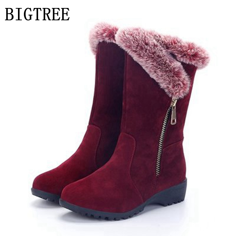 ZZPOHE Women Boots 2017 Winter new fashion Snow Boots Women Casual Comfortable Warm Velvet Shoes free shipping plus size 41