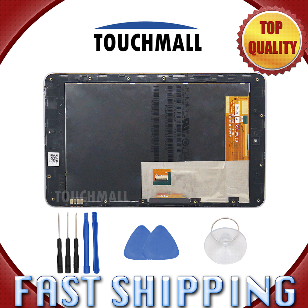 For New LCD Display Touch Screen+Frame Assembly Replacement Asus Google Nexus 7 2012 ME370T ME370 ME370TG Wifi 7 Free Shipping