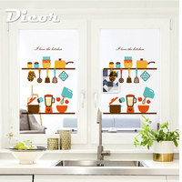 DICOR Kitchen Series Window Film In Decorative Film Vinyl Frosted Fenetre Film Glass Stickers Restaurant Accessories BLT1670