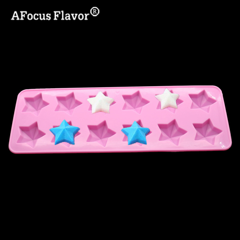 1 Pc DIY Pentagram Silicone Mold Chocolate Pudding Jelly Biss